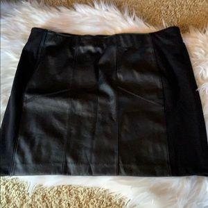 Rock & Republic Faux Leather Skirt